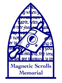 Magnetic Scrolls Memorial  						logo showing a picture composed of elements taken from the box  						art from the various Magnetic Scrolls games